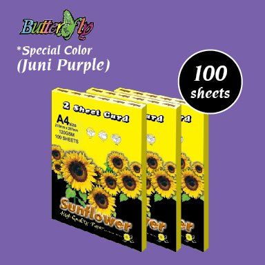 2 Sheet Card - Juni Purple