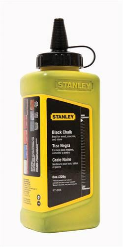 47-808 - 8 oz. Black Chalk Refill Measuring / Layout Tools Stanley
