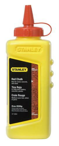 47-804 - 8 oz. Red Chalk Refill Measuring / Layout Tools Stanley