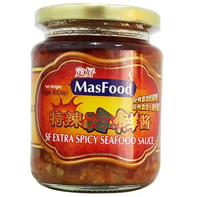 MasFood SF Extra Spicy Seafood Sauce Bottle Paste