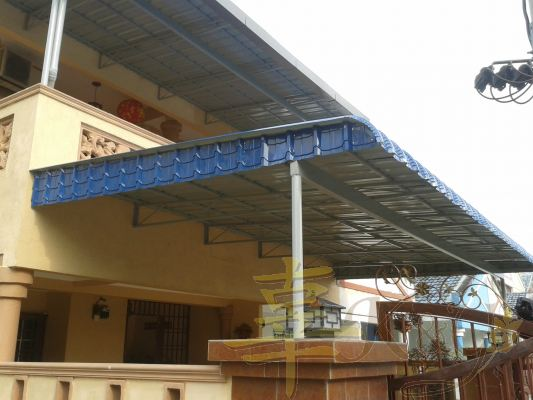 Mild Steel Metal Deck Awning