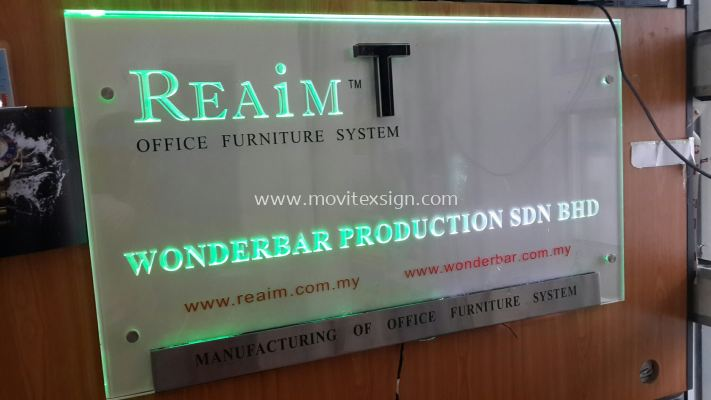Reception LED backdrop sign with controller system effect (click for more detail)