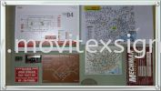 (click for more detail) Hotel floor plan/Map sign /Car tageAluminium