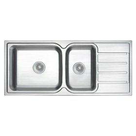 ZEX-861 Rubine Stainless Steel Top Mount Sink