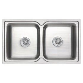 ZEX-820 Rubine Stainless Steel Top Mount Sink