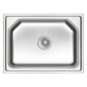 ZEX-810-53 Rubine Stainless Steel Top Mount Sink