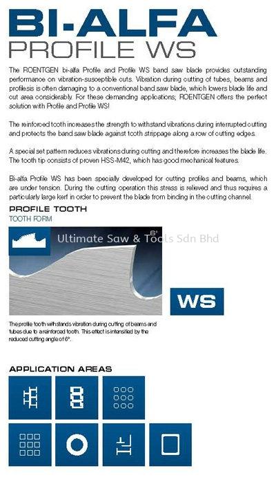 Bi-Alfa Profile WS Bandsaw Blade