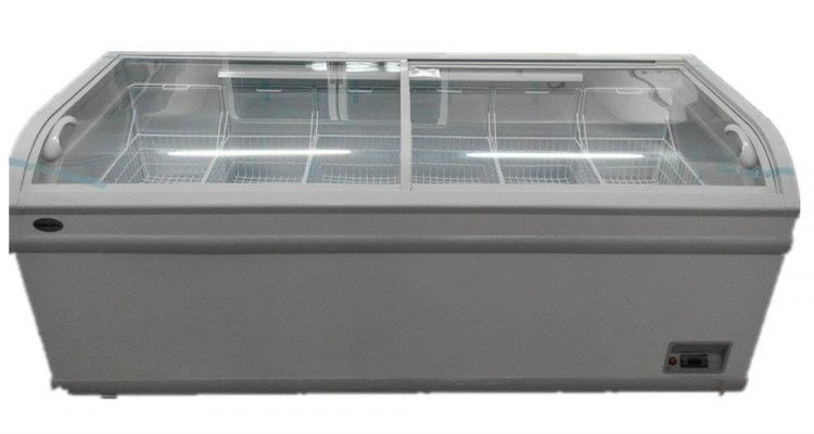 Chest Freezer with Sliding Glass Door