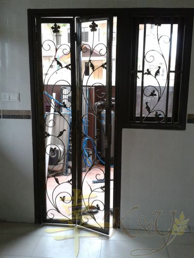 Wrought Iron Door & Window - W.I Flat Bar,Bird,Leaf,Flower