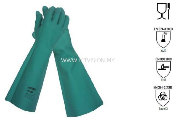 JACKSON SAFETY G80 Nitrile Chemical Resistant 18 inch Glove