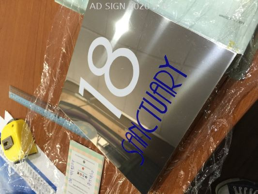 Stainless Steel box house number signage
