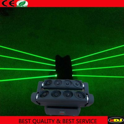 Single green spider laser moving head light