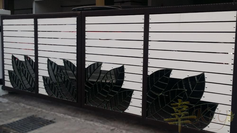 Aluminium Main Gate Mix Wrought Iron Mild Steel Main