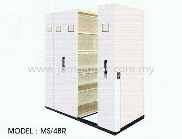 4 Bays Standard Mobile with Floor Rail System Unico Mobile Safety Box