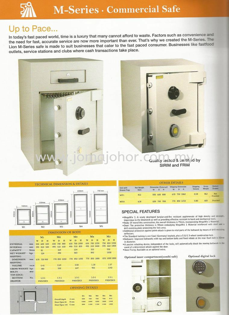 Lion M Series Safe Lion Safety Box