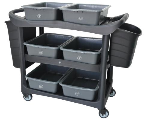 EH 3 Tiers Utilities Cart c/w Buckets 3UC-606