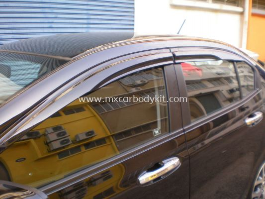 HONDA CITY 2009-2014 MUGEN DOOR VISOR