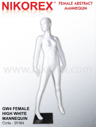 36184-GW4 FEMALE HIGH WHITE MANNEQUIN