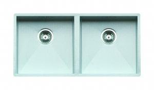 ONTARIO 40X40 + 40X40 Reginox Stainless Steel Under Mount Sink