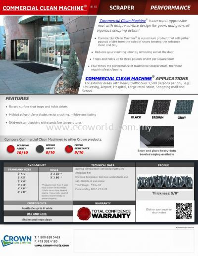 Commercial Clean Machine Catalog