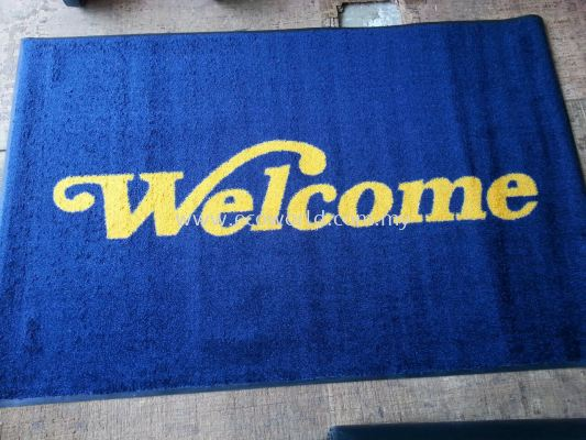 USA Message Mats-Blue with Yellow wording-Welcome