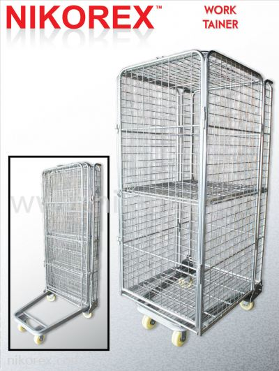 29724-FRAME ROLL CONTAINER C/W DOOR(172X80X75CM)50X50MM