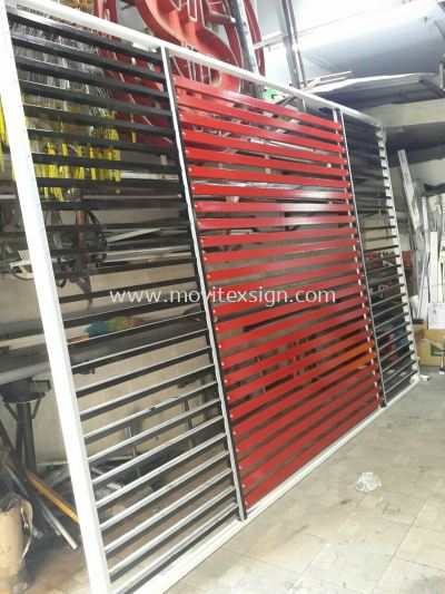 aluminium strips frame for sign text or logos structure