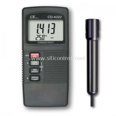 Lutron Conductivity Meter (ATC, two display) - CD-4322