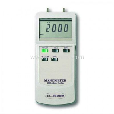 Lutron Manometer (2000 mBar, Differential input) - PM-9100HA