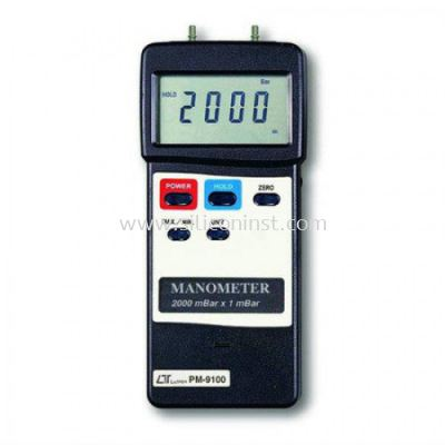 Lutron Manometer (2000 mbar, differential input) - PM-9100