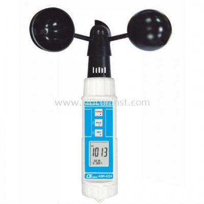 Lutron Cup Anemometer Barometer Humidity Temp - ABH-4224