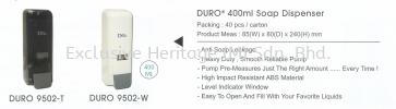 DURO 9502-W Soap Dispenser Soap Dispenser and Toilet Seat Sanitizer Dispenser