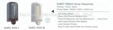DURO 9510-W Soap Dispenser Soap Dispenser and Toilet Seat Sanitizer Dispenser