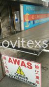 Signboard made of aluminium or GI plate base (click for more detail) Signboard / Lighting Signboard