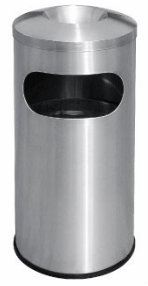 EH Stainless Steel Litter Bin c/w Ashtray Top 50L