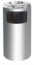 EH Stainless Steel Litter Bin c/w Ashtray Top 40 Stainless Steel Bins