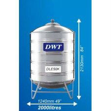 DLE50K Stainless Steel Water Tank (With Stand Round Bottom) DWT Stainless Steel Water Tank