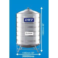 DLE60K Stainless Steel Water Tank (With Stand Round Bottom) DWT Stainless Steel Water Tank