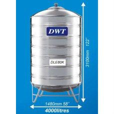 DLE80K Stainless Steel Water Tank (With Stand Round Bottom) DWT Stainless Steel Water Tank