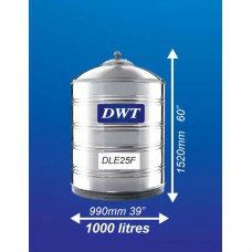 DLE25F Stainless Steel Water Tank (Without Stand Flat Bottom) DWT Stainless Steel Water Tank