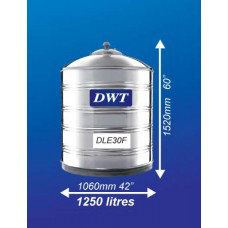 DLE30F Stainless Steel Water Tank (Without Stand Flat Bottom) DWT Stainless Steel Water Tank