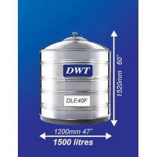 DLE50F Stainless Steel Water Tank (Without Stand Flat Bottom) DWT Stainless Steel Water Tank