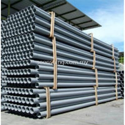 "PVC Pipe 8"" (200MM) x 5.8M Class D SIRIM (BS STANDARD)"