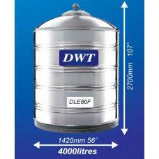 DLE80F Stainless Steel Water Tank (Without Stand Flat Bottom)