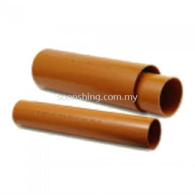 "UPVC Underground Brown Pipe 110MM (4"") x 5.8M (SIRIM)"