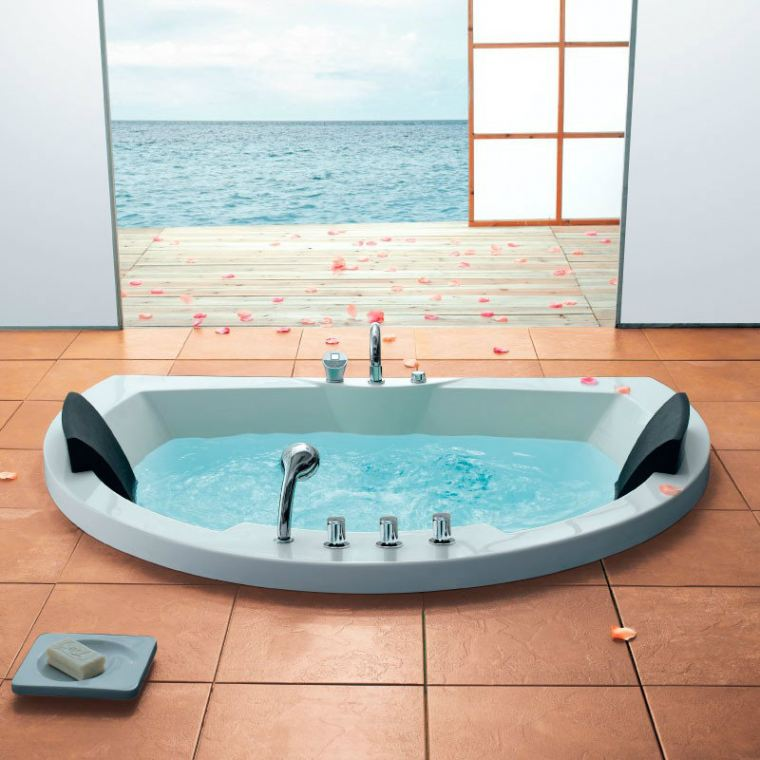 OR-M105 Two-Seater Whirlpool Bath Orin Jacuzzi
