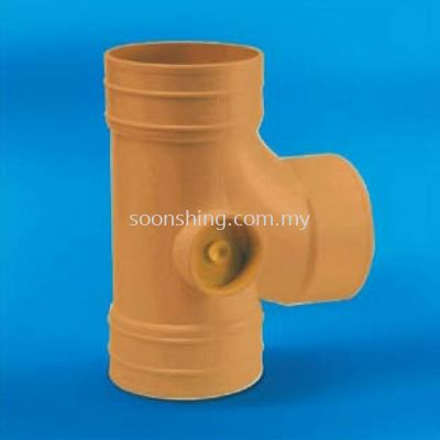 "UPVC Underground Fittings Equal Single Branch 4"" (110MM)"