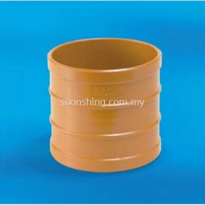 "UPVC Underground Fittings Straight Coupling 4"" (110MM)"