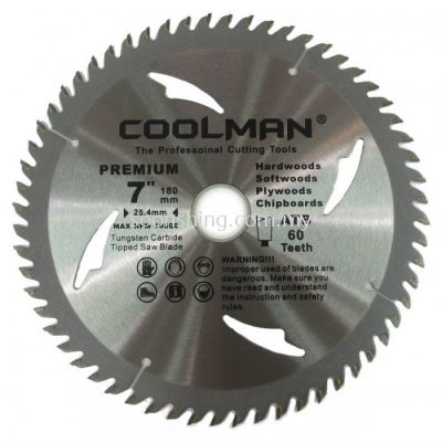 "Coolman TCT Premium Wood Circular Saw Blade 9"" (230MM) x 80T"