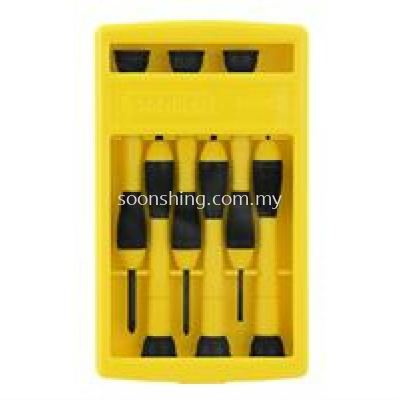 Stanley 66-052 6-Piece Bi-Material Handle Precision Screwdriver Set